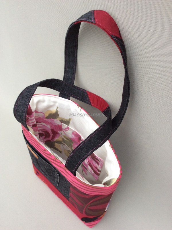 Pink Patchwork Handmade Tote Bag_Side