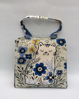 Blue Cat Handmade Tote Bag_Front