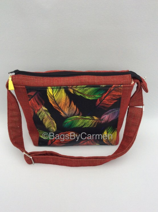 Feathers Handmade Shoulder Bag_Back