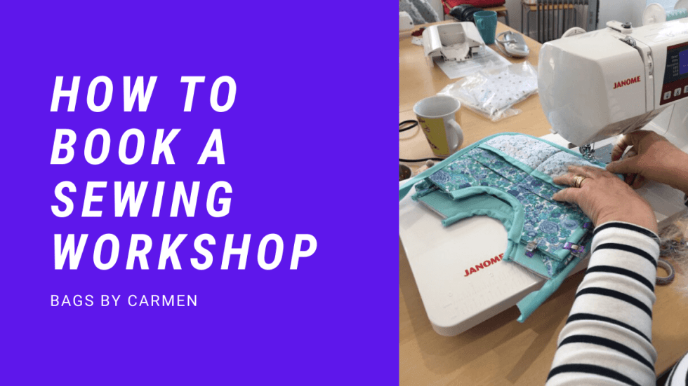 How to book a sewing workshop with bags by carmen