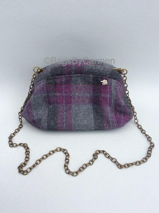 Clutch Bag - Grey Purple_Front