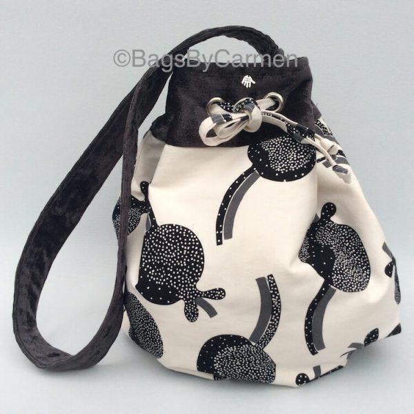 White & Black Hobo Bag