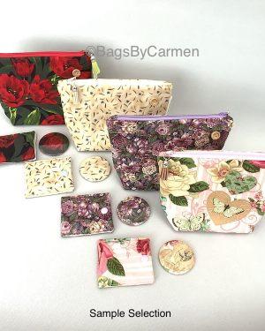 floral make up bag gift set