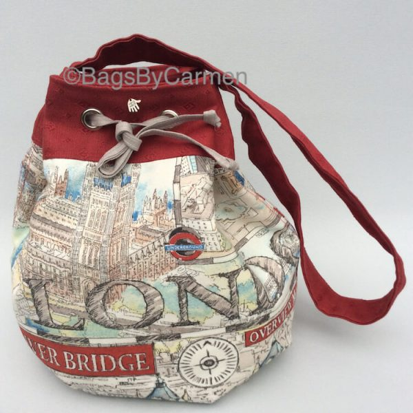 Red London City Bag