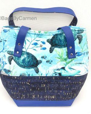 Handbag - Green Turtle