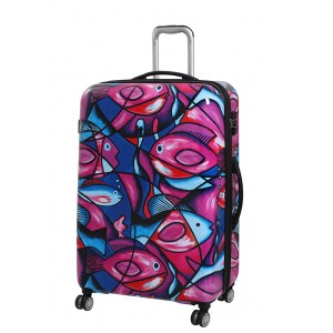 Fish Imprint Luggage