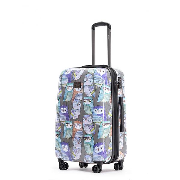 Owl Print Luggage