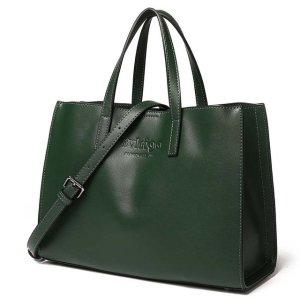 Купить Сумка-тоут женская кожаная зеленая Bvlriga, Casual Tote фото цена