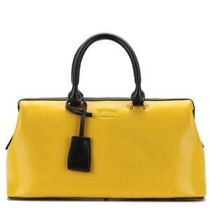 Купить Сумка-чемодан женская желтого цвета кожаная Bvlriga England style цена фото