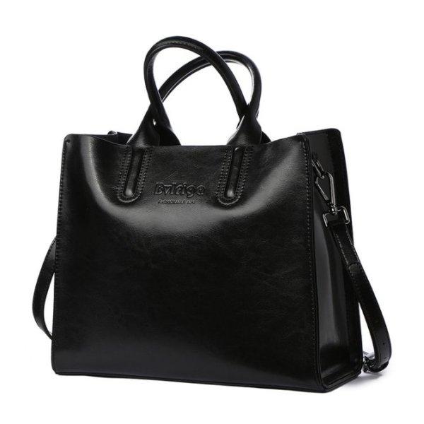 Купить Сумка-тоут женская черная кожаная Bvlriga, Casual Tote designer цена фото