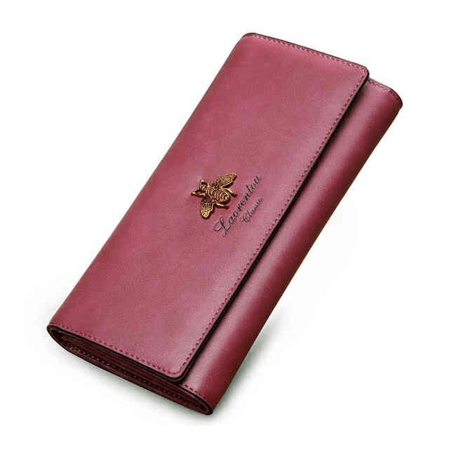 b4d83f656d5f Кошелек женский кожаный пурпурный Laorentou, Classic | BAGS TIME ...