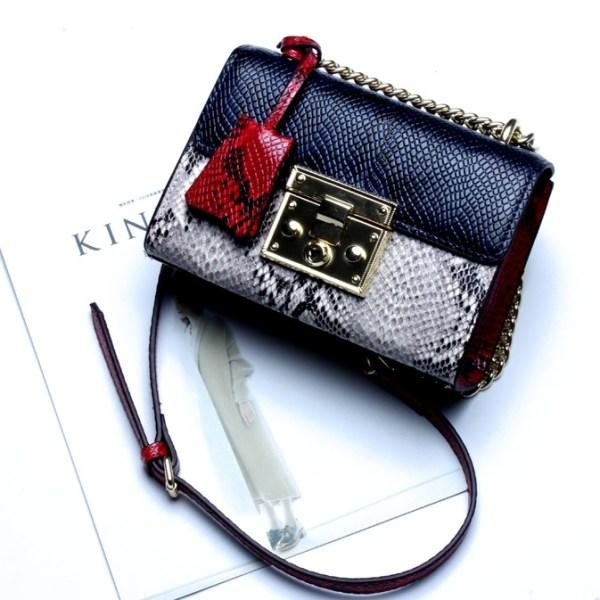 Купить Сумка женская кожаная мультиколор синяя красная серая Esufeir, Mini Flap фото цена