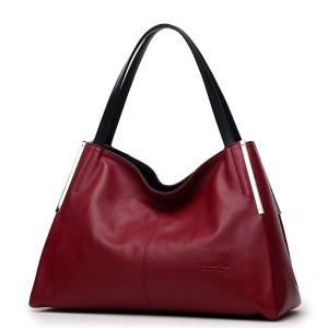 Купить Сумка женская кожаная красного бордового цвета Laorentou, Classic City цена фото