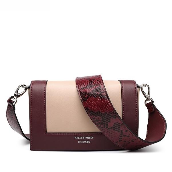 5204678b8ff0 Купить Сумка | клатч женская кожаная бордовая / абрикос змеиная кожа  Zooler, Mini Flap fashion