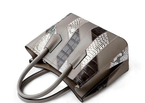 Женская сумка из крокодиловой змеиной кожи