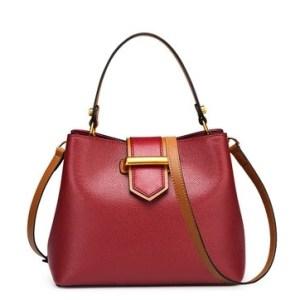 Купить Сумка женская кожаная красного цвета/бордо Laorentou, Fashion City цена фото