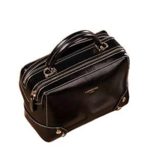Купить сумку через плечо Сумка женская кожаная черная черного цвета Laorentou, Fashion Classic