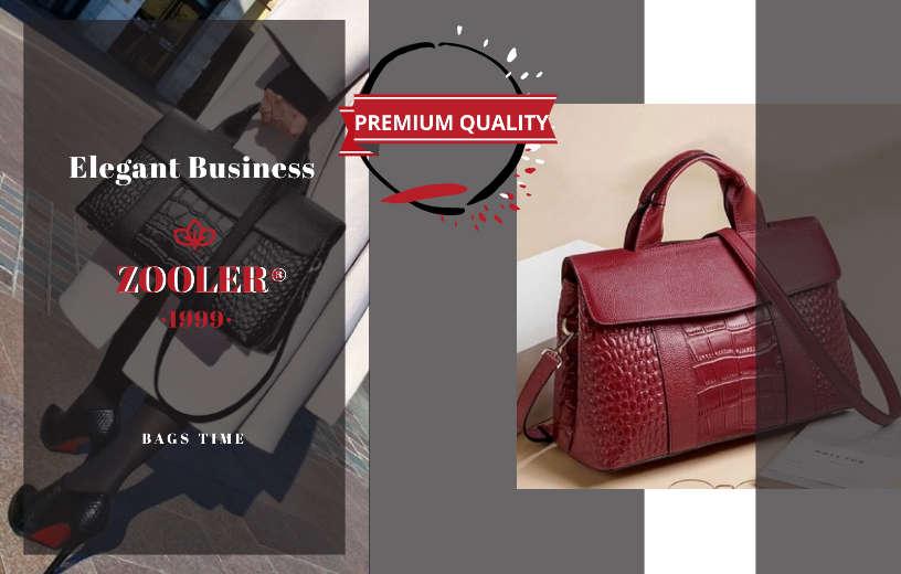 Родзинка і акцент модного аутфіта в будь-який сезон – Жіночий портфель з ефектом шкіри крокодила в кольорі червоне вино