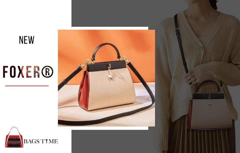 Жіноча шкіряна сумка з магнітною застібкою від FOXER®. Новинка в BAGS TIME!