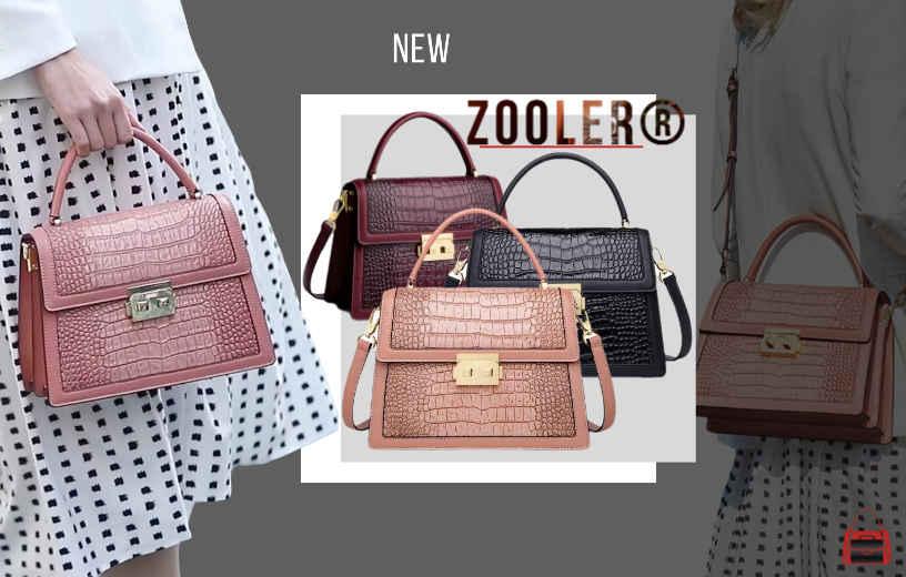 Купити жіночу шкіряну сумку-тоут крокодиляча шкіра Zooler, Croco Flap. Новинка 2021 в BAGS TIME!