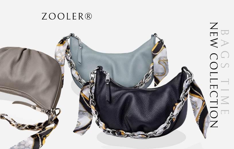 Купити сумку-хобо через плече жіночу шкіряну Zooler, Designer hobo. Новинка 2021 в BAGS TIME!