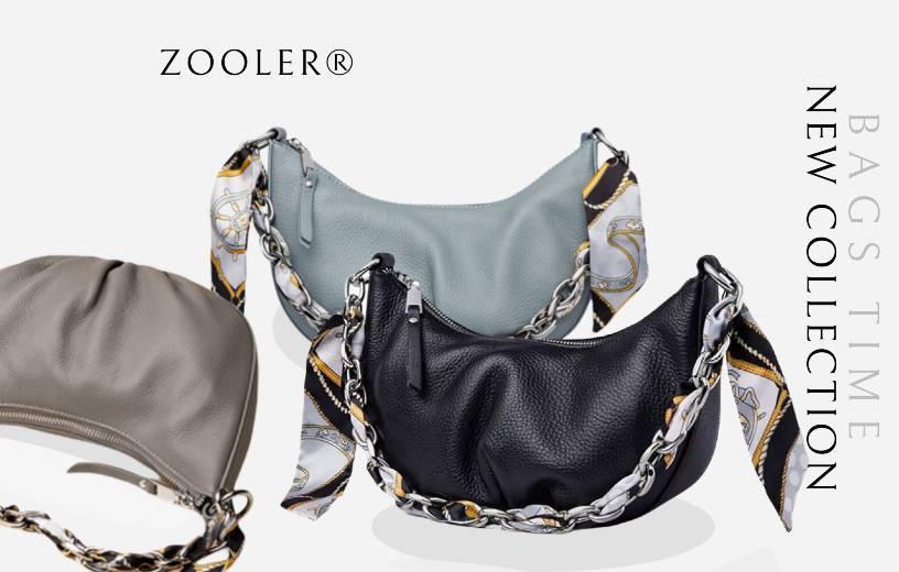 Купити сумку-хобо через плече жіночу шкіряну Zooler, Designer hobo. Новинка Весна-Літо 2021 в BAGS TIME!