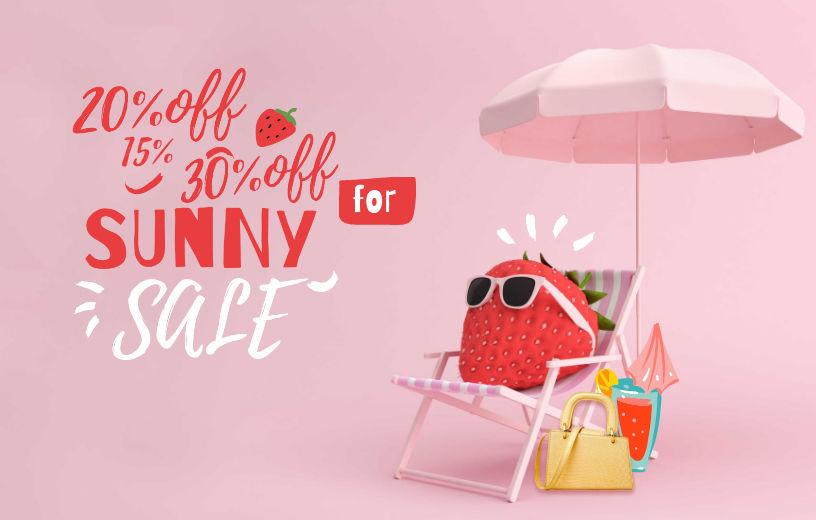 Солодкі полуничні знижки для SUNNY SALE + Безкоштовна доставка в BAGS TIME!