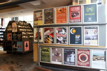 Posters in Record Stores.