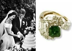 La bague de fiançailles de Jacqueline Kennedy