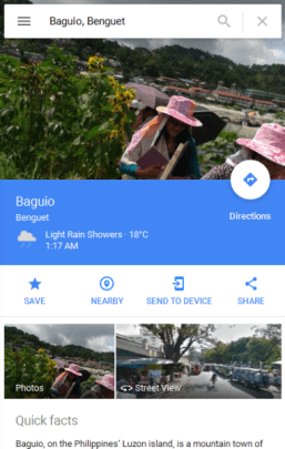 google map street view baguio