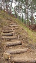 mt ulap mountain eco trail ampucao itogon benguet improvised stairs 2