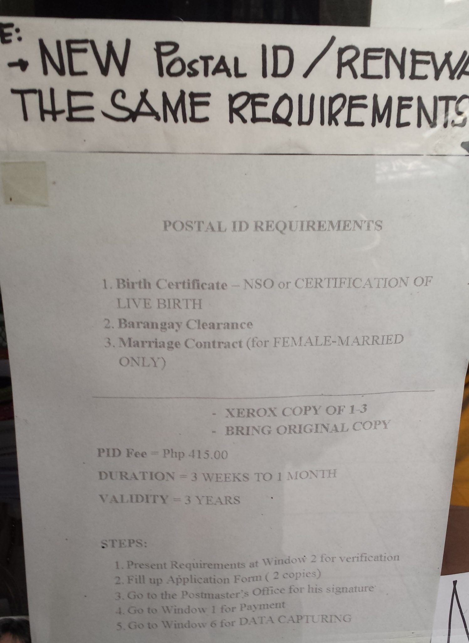 Requirements for postal id baguio guide postal id requirement renewals falaconquin