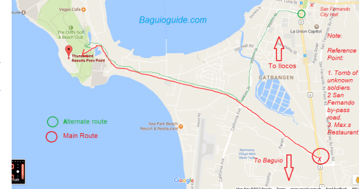 How To Get To Thunderbird Resorts And Casinos Poro Point La - Launion map