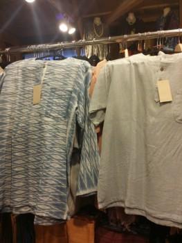 ウボンコットン、紬シャツ