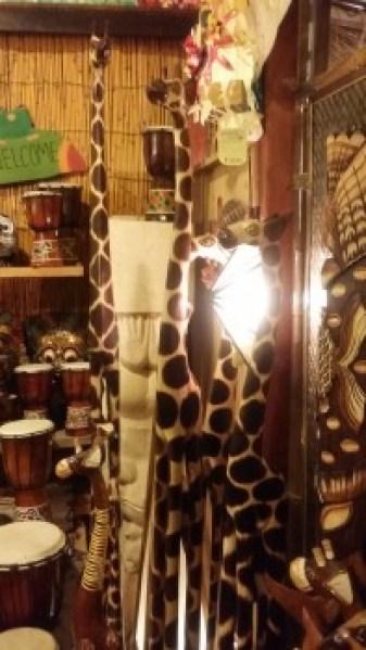 バリ島木彫りアニマル キリン