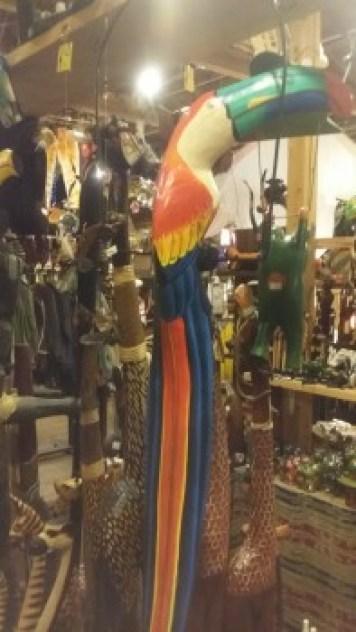 バリ島木彫りアニマル 南国鳥