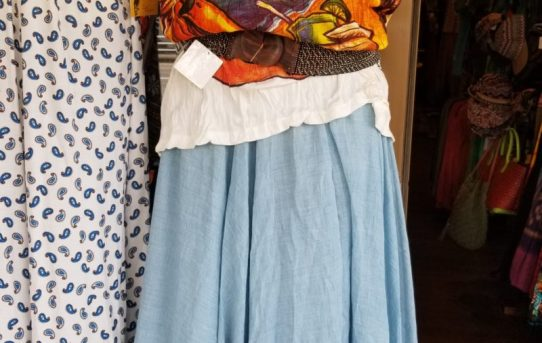 本日のエスニックファッションコーデ! 無地スカートの合わせ方