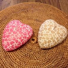 ハート型お花彫刻キャンドル