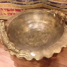 ナーガ(龍)睡蓮鉢