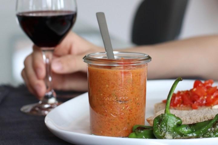 Gazpacho i weck glas tapas Bagvrk.dk