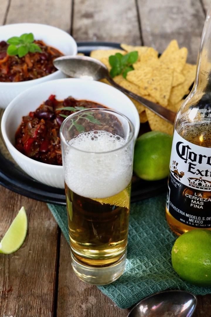 Chili sin carne Corona Bagvrk.dk