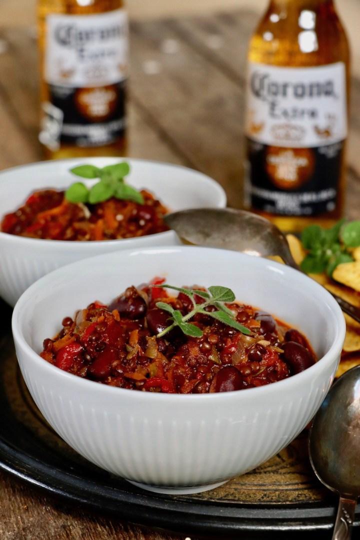 Chili sin carne med corona Bagvrk.dk