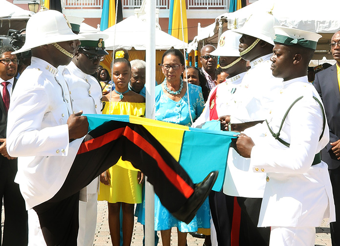 Bahamian Patriotism Fills The Square Of Downtown On