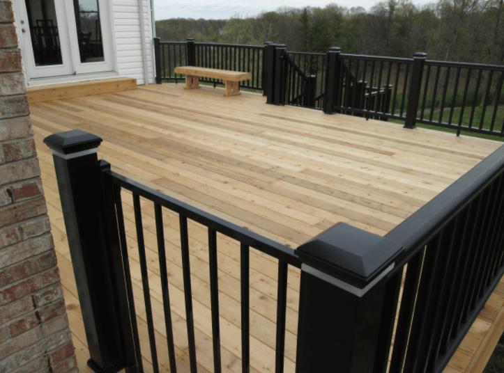 metal black deck railing