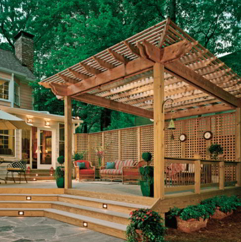 awesome pergole for deck