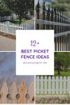 12 Best Picket Fence Ideas in So Many Options