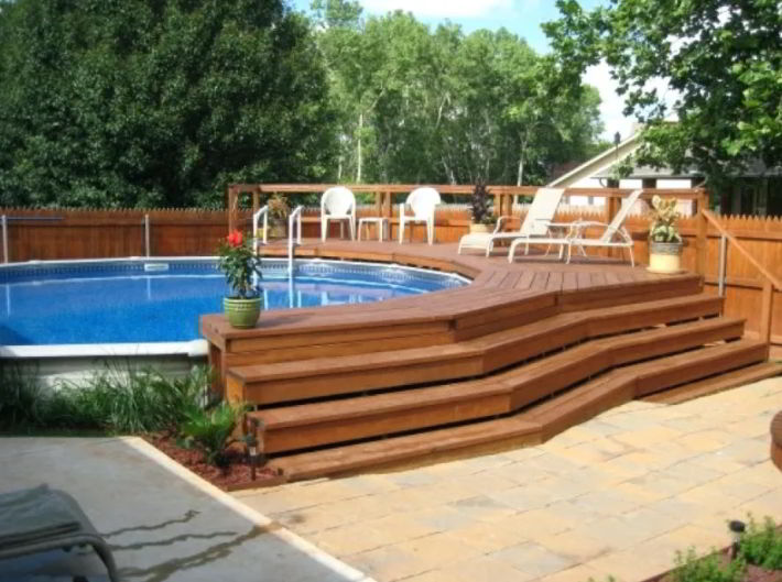 Best Pool Deck with Steps