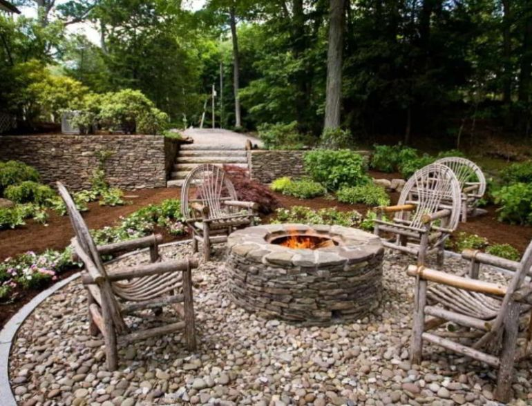 Rock Patio and Fire Pit