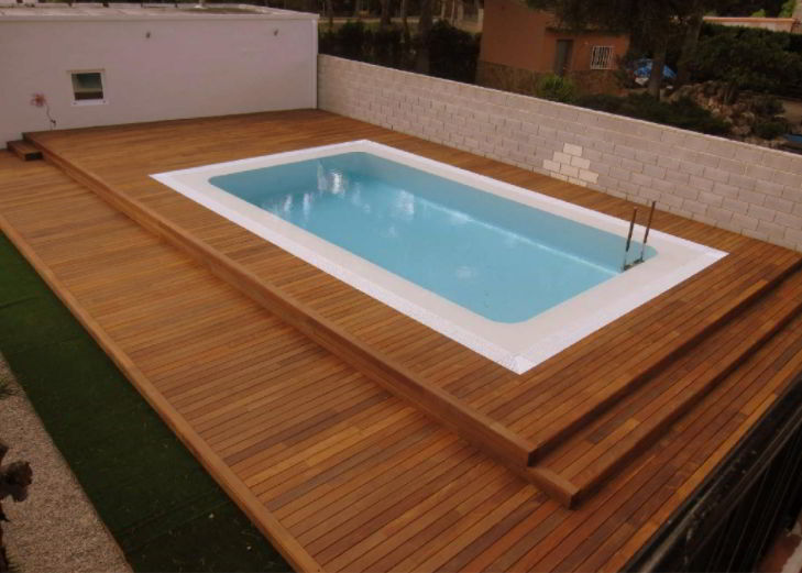 Solid Modern Pool Deck Ideas