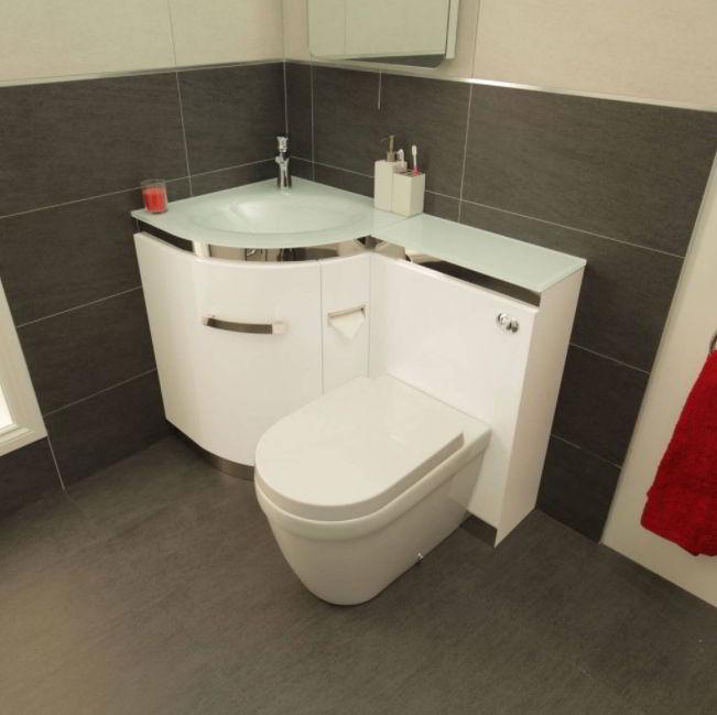 Corner Toilet Unit Idea